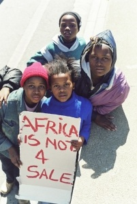Not everyone likes the World Trade Organisation. Cape Town, 2003.