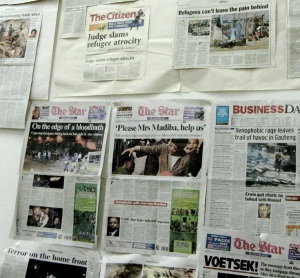 newspaper headlines on xenophobia