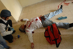 An Israeli man killed by a Hamas rocket in the southern town of Netivot.