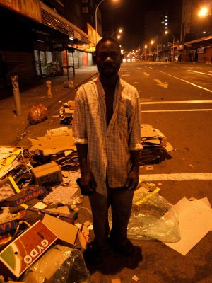 Thomas, on Joe Slovo Street in Durban, December 2011